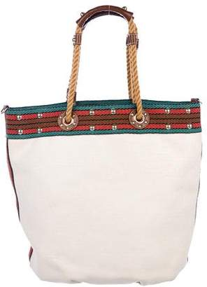 Gucci Canvas Rope Tote