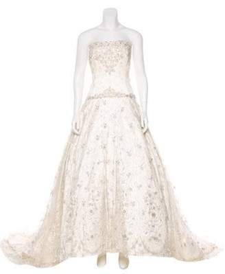 Reem Acra Swarovski-Embellished Couture Wedding Gown Swarovski-Embellished Couture Wedding Gown