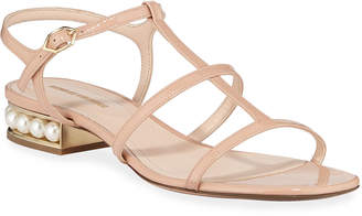 Nicholas Kirkwood Casati Sandals with Pearly Heel