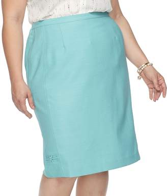 Alfred Dunner Plus Size Studio Skirt