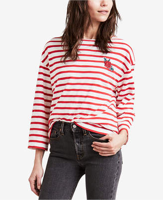 Levi's Embroidered Striped Sailor T-Shirt
