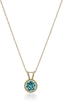 Swarovski Amazon Collection 10K Gold Dainty Elements Birthstone Pendant with Gold Filled Chain, May