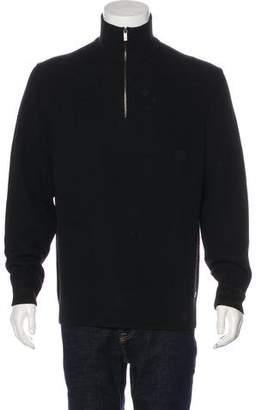 Zegna Sport Wool Rib Knit Sweater