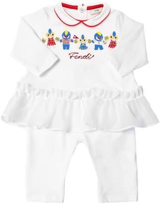 Fendi Cheer Printed Cotton Jersey Romper