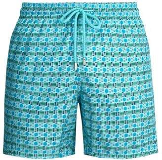 Vilebrequin Les 4 elements Swim Shorts - Mens - Blue