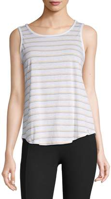 Andrew Marc Striped Cotton Blend Tank Top