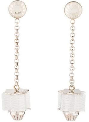 Lalique Crystal Drop Earrings