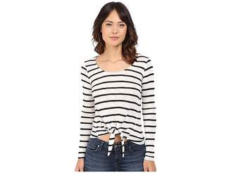 Splendid Huntington Stripe Rib Long Sleeve Women's Clothing