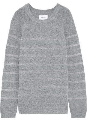 Current/Elliott The Victor Metallic Crochet-trimmed Boucle-knit Sweater