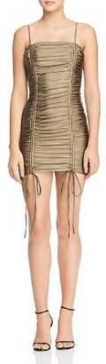 Zion Tiger Mist Ruched-Drawstring Body-Con Dress