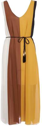Quiz Mustard And Cream Stripe Floaty Dress