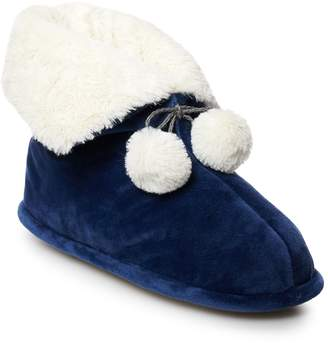 Cuddl Duds Women's Velour Snuggle Up Bootie Slippers