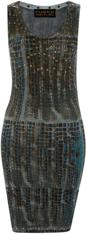 Custo Barcelona Pal peptile dress
