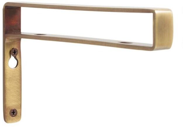 Antique Brass Mix & Match Shelf Brackets Set of 2