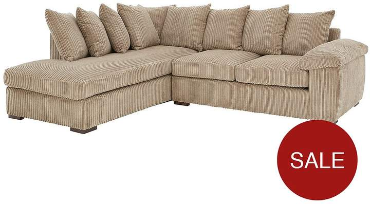 Amalfi Left Hand Scatter Back Fabric Corner Chaise Sofa