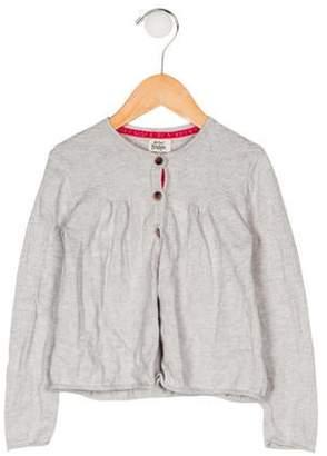 Boden Mini Girls' Crew Neck Short Sleeve Cardigan