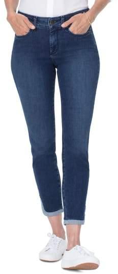 Ami Dolphin Hem Ankle Skinny Jeans