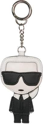 Karl Lagerfeld Paris Genuine Leather Keychain Keyring Holder Gift