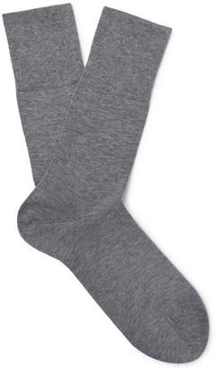 Falke Tiago Melange Stretch-Cotton Blend Socks - Gray