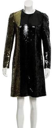 Sonia Rykiel Long Sleeve Sequin Dress
