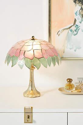 Anthropologie Tiffany Capiz Table Lamp