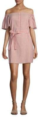 Collective Concepts Striped Tie Waist Mini Dress