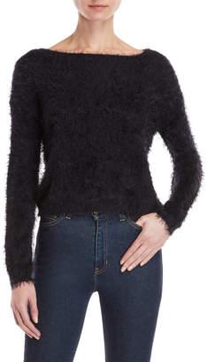 RD Style Solid Eyelash Sweater