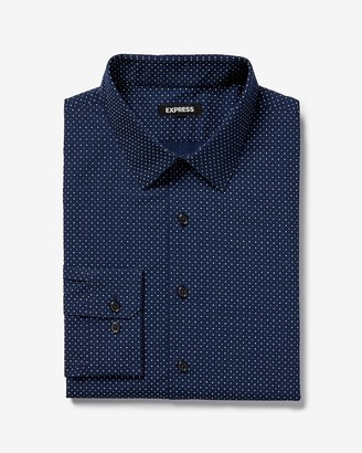 Express Extra Slim Micro Dot Dress Shirt