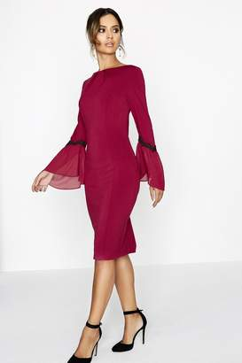 Paper Dolls Outlet Wine Bodycon Dress