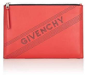 Givenchy Women's Emblem Medium Leather Zip Pouch - Red