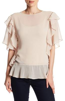 OnTwelfth Short Sleeve Ruffle Blouse