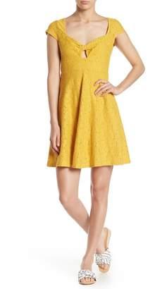 Taylor & Sage Lace Cut Out Fit & Flare Dress
