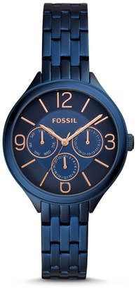 Fossil Suitor Three-Hand Blue Stainless Steel Watch
