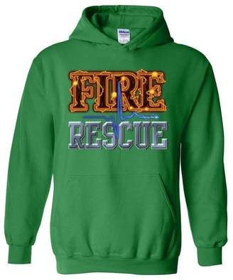 Xekia Fire Rescue Firefighter Hero Unisex Hoodie Sweatshirt