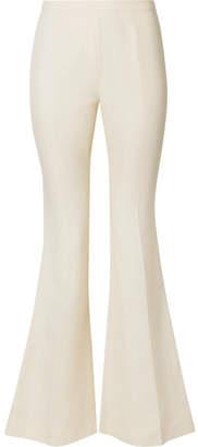 Mansur Gavriel Canvas Flared Pants - Cream