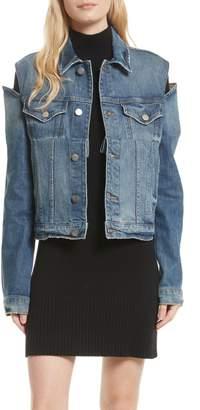 Frame Le Cutout Denim Jacket