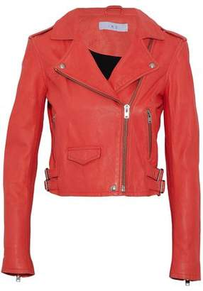 IRO Ashville Cropped Leather Biker Jacket