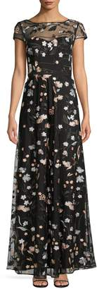 Karl Lagerfeld Paris Floral Embroidered Gown