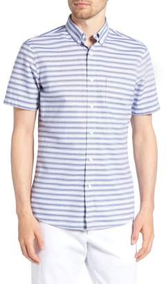1901 Trim Fit Stripe Round Pocket Sport Shirt