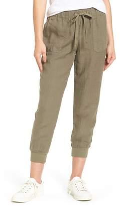 Caslon Linen Jogger Pants (Regular & Petite)