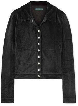 ALEXACHUNG Velvet Track Jacket - Black