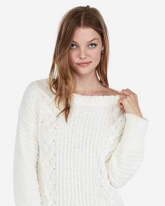 Express Petite Cozy Cable Knit Sweater