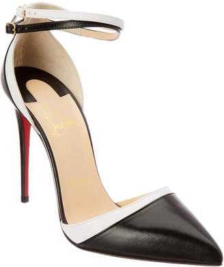 Christian Louboutin 100 Uptown- Double Leather Pump