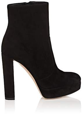 Gianvito Rossi Women's Brook Suede Platform Ankle Boots - Black
