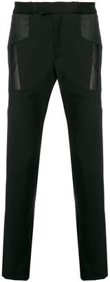 Les Hommes patchwork style trousers