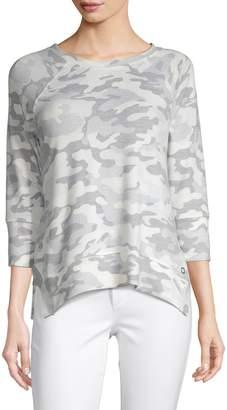 Calvin Klein Raglan-Sleeve Camouflage Top