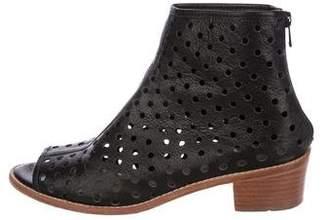 Loeffler Randall Perforated Leather Peep-Toe Booties