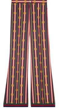Gucci Square GG belts silk pajama pant