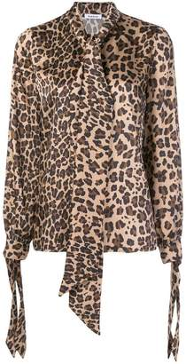 P.A.R.O.S.H. pussy bow leopard shirt