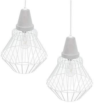 Southern Enterprises Passine Cage Pendant Lamp 2 Piece Set